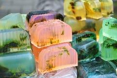 Naturalny aromatyczny mydło Zdjęcia Stock