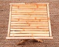 Naturalny bambusowy falcowanie stół zdjęcie royalty free