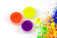 Naturalny barwiony pigmentu proszek fotografia royalty free