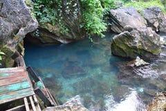 Naturalny basen blisko Tham Chang jamy w Vang Vieng Laos zdjęcie royalty free