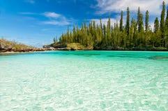 Naturalny basen Oro zatoka, wyspa sosny obrazy royalty free