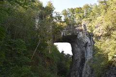 Naturalny Bridżowy stanu park w Virginia Obrazy Stock