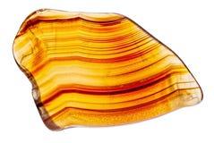 Naturalny brown agat Obrazy Stock