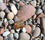 Naturalny bursztyn i kamień Obraz Royalty Free