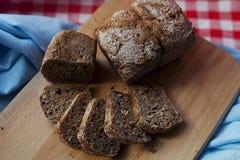 Naturalny chleb pokrajać Zdjęcie Royalty Free