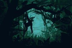 Naturalny dżungla krajobrazu szablon royalty ilustracja
