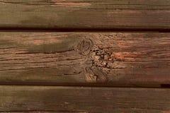 Naturalny drewniany tło z pęknięciami Horyzontalna deska obraz stock