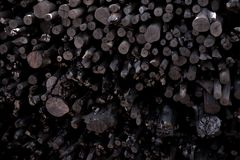 Naturalny drewniany węgiel drzewny, tradycyjny węgiel drzewny lub ciężki drewniany charcoa, Fotografia Royalty Free