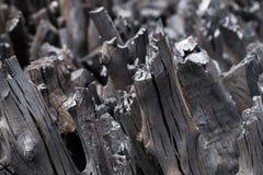 Naturalny drewniany węgiel drzewny, tradycyjny węgiel drzewny lub ciężki drewniany charcoa, Fotografia Stock