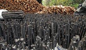 Naturalny drewniany węgiel drzewny Obrazy Stock