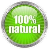naturalny etykietka produkt Obraz Royalty Free