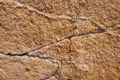 Naturalny granitu kamień z unikalnym wzorem włączenia kwarcowe żyły obraz royalty free