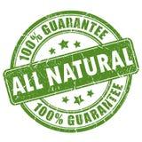 Naturalny gwarancja znaczek royalty ilustracja