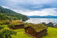 Naturalny Hardangerfjord fjord krajobraz Norway Obraz Royalty Free