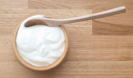 Naturalny jogurt Zdjęcie Stock