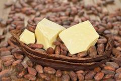 Naturalny kakaowy masło Obrazy Royalty Free
