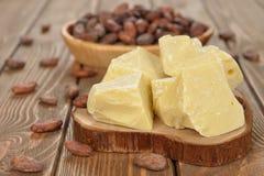 Naturalny kakaowy masło Obrazy Stock