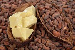 Naturalny kakaowy masło Zdjęcia Stock