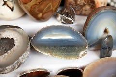 Naturalny kamienny agata plasterek Zdjęcie Stock
