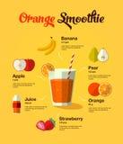 Naturalny karmowy owocowy smoothie Zdjęcie Stock