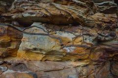 Naturalny kolorowy rockowy tło, zbliżenie tekstura Obraz Royalty Free