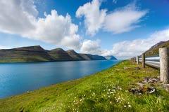 Naturalny krajobraz Faroe wyspy Fotografia Royalty Free