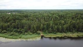 Naturalny krajobraz magiczny jeziorny Medesno zbiory wideo