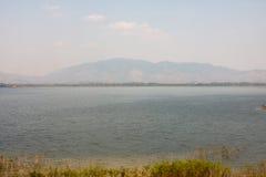 Naturalny krajobrazowy Bangpra Chonburi wody jezioro Zdjęcia Royalty Free