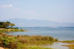 Naturalny krajobrazowy Bangpra Chonburi wody jezioro obrazy stock