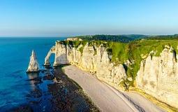 Naturalny kreda łuk przy Etretat, Francja obraz royalty free