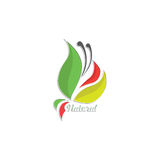 Naturalny liścia logo royalty ilustracja