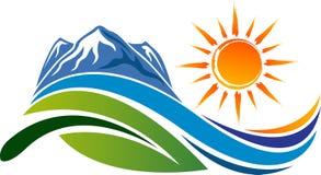 Naturalny logo ilustracja wektor