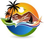 Naturalny logo royalty ilustracja