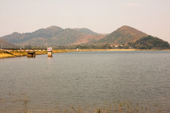 Naturalny lokaci Bangpra Chonburi jezioro Fotografia Stock