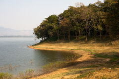 Naturalny lokalny jeziorny Bangpra Chonburi Tajlandia Obrazy Royalty Free
