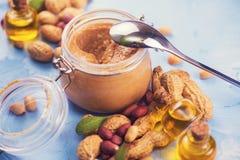 Naturalny masło orzechowe Fotografia Stock