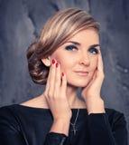 Naturalny modny piękno kobiety twarz Obraz Royalty Free