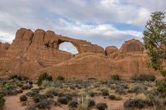 Naturalny most w łukach parki narodowi, Utah zdjęcia stock