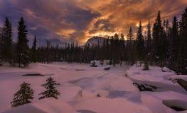 Naturalny most w zimie fotografia royalty free