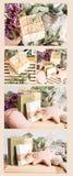 Naturalny mydlany kolaż Obrazy Royalty Free