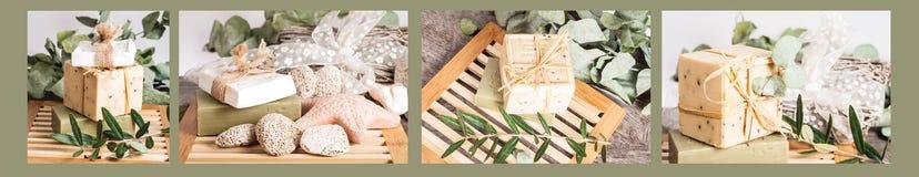 Naturalny mydlany kolaż Zdjęcie Stock