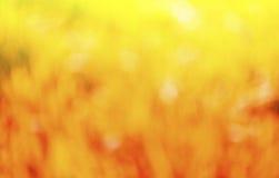 Naturalny outdoors bokeh tło w czerwieni i koloru żółtego brzmieniach Obrazy Stock