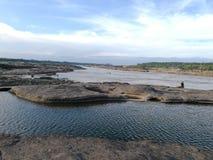 Naturalny pływacki basen na Sam niecce Bok & x28; Jar thailand& x29; Zdjęcie Stock