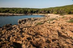 Naturalny park Porto Selvaggio Zdjęcie Royalty Free