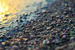 Naturalny pebblestone obrazy royalty free