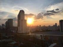 Naturalny piękna słońca niebo Obrazy Royalty Free