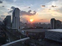 Naturalny piękna słońca niebo Zdjęcia Royalty Free