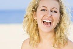 naturalny piękny śmiech Zdjęcie Royalty Free