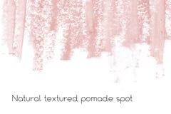 Naturalny pomaduje sztandaru tło z surową grunge teksturą kosmetyki Obraz Royalty Free