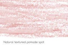 Naturalny pomaduje sztandaru tło z surową grunge teksturą kosmetyki Zdjęcia Royalty Free